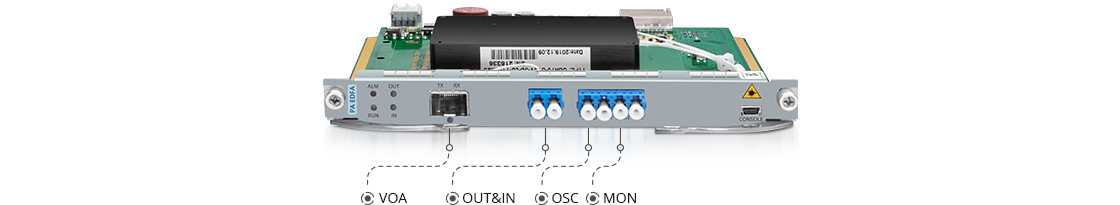 Amplifier Modules Multifunctional Ports for Link Configuration and Management