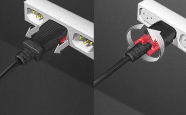 Z-Lock Locking Power Cords Easy to Install and Remove