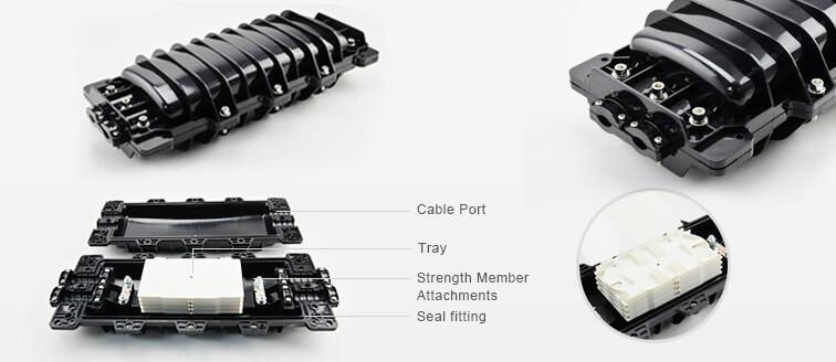 96-fiber horizontal fiber optic splice closure