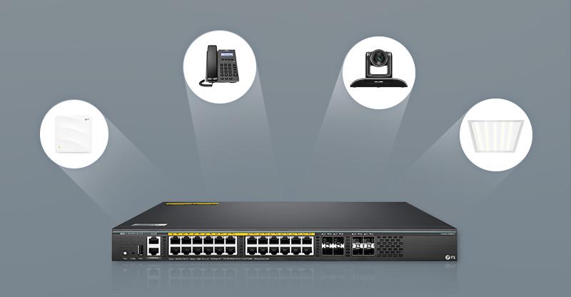 FS S5860-24XB-U PoE Switch Application