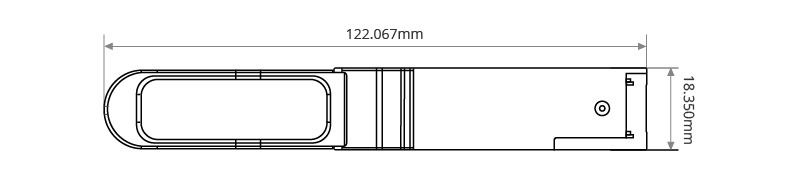 Dimensiones mecanicas del QSFP+