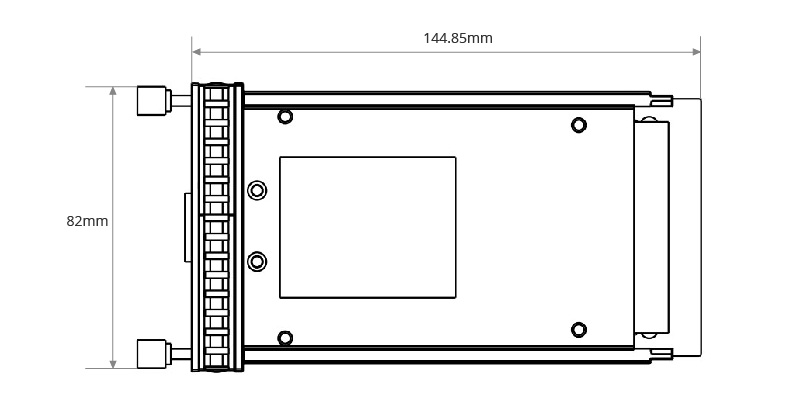Dimensiones mecanicas del CFP