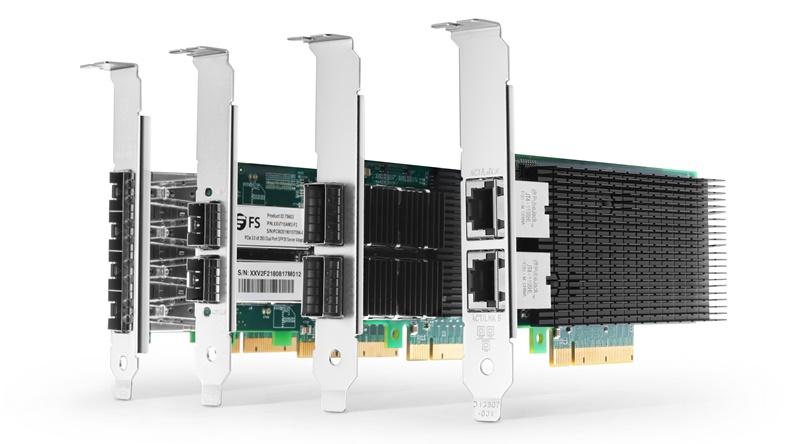 Figure 1:10/25/40G PCIe NIC Cards