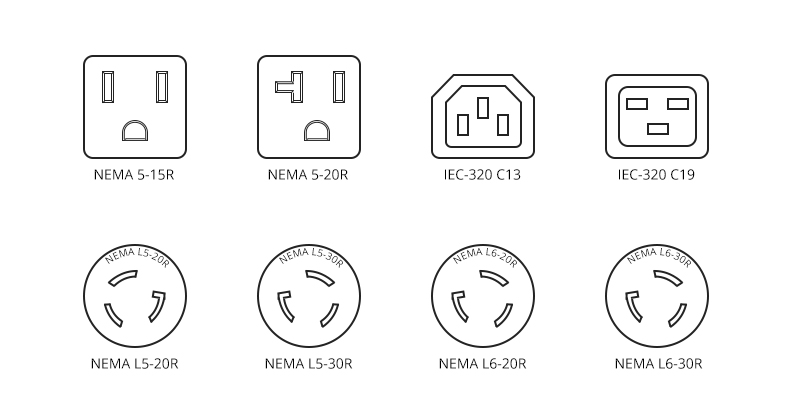 Common PDU Receptacle Types