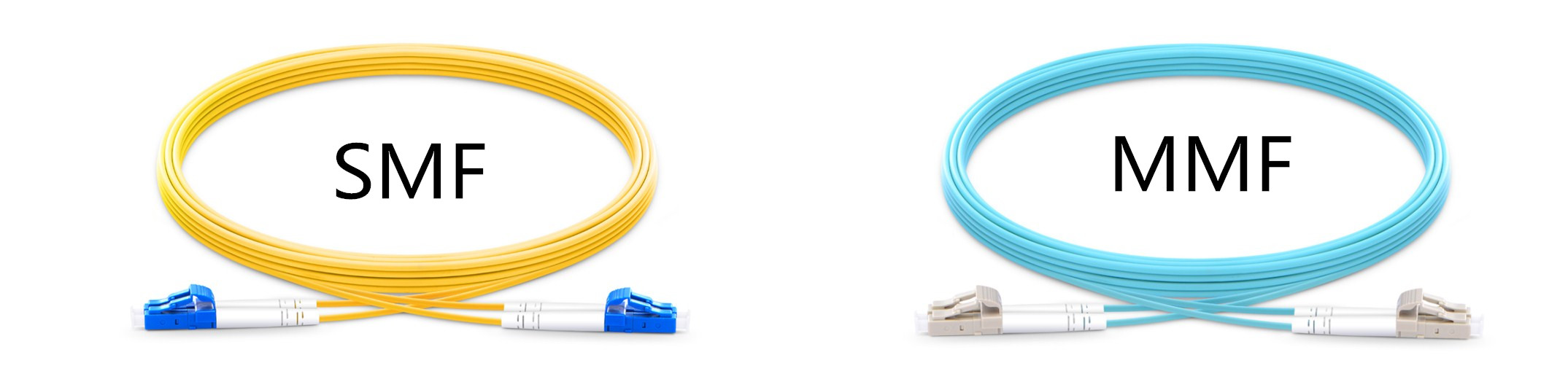 Single Mode Fiber vs Multimode Fiber color