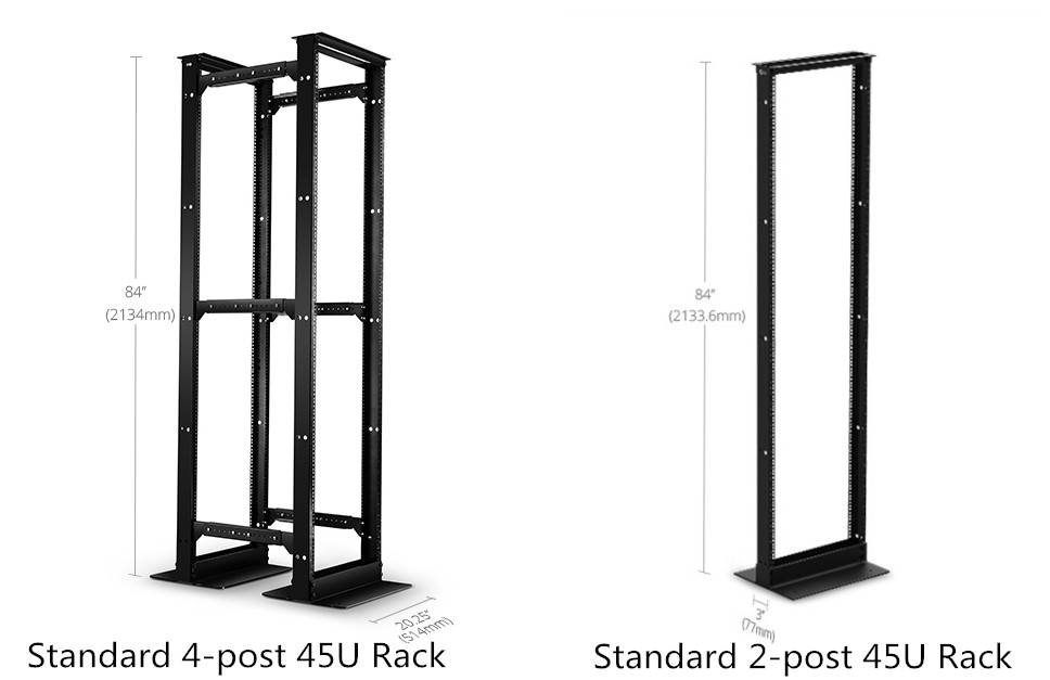 2-post & 4-post open frame rack