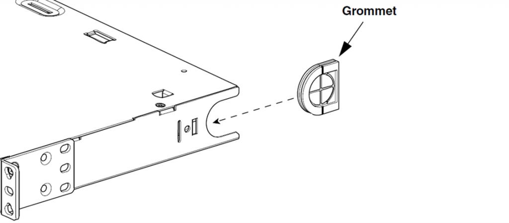 rack mount fiber enclosure grommet