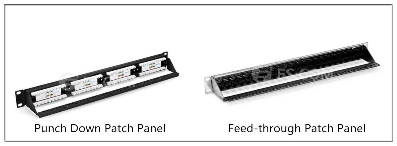copper patch panel: Punch Down vs. Feed-through Patch Panel