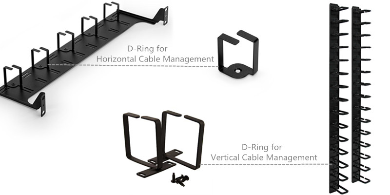 D-ring cable manager type