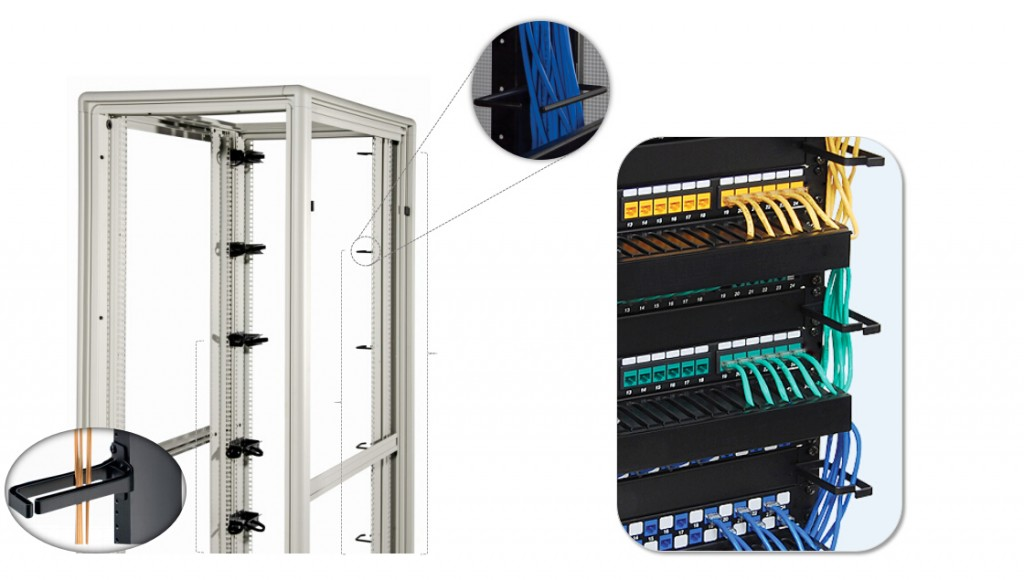 Vertical D-Ring cable manager