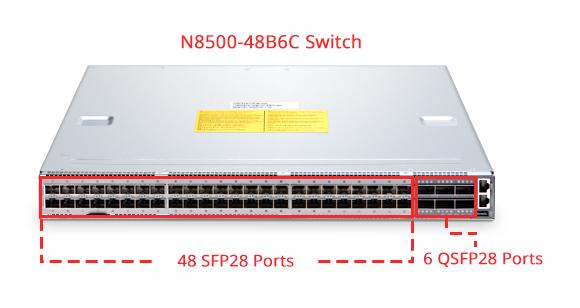 N8500-48B6C 100G switches