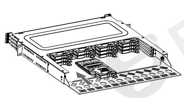 install mtp-lc cassette into fiber network enclosure