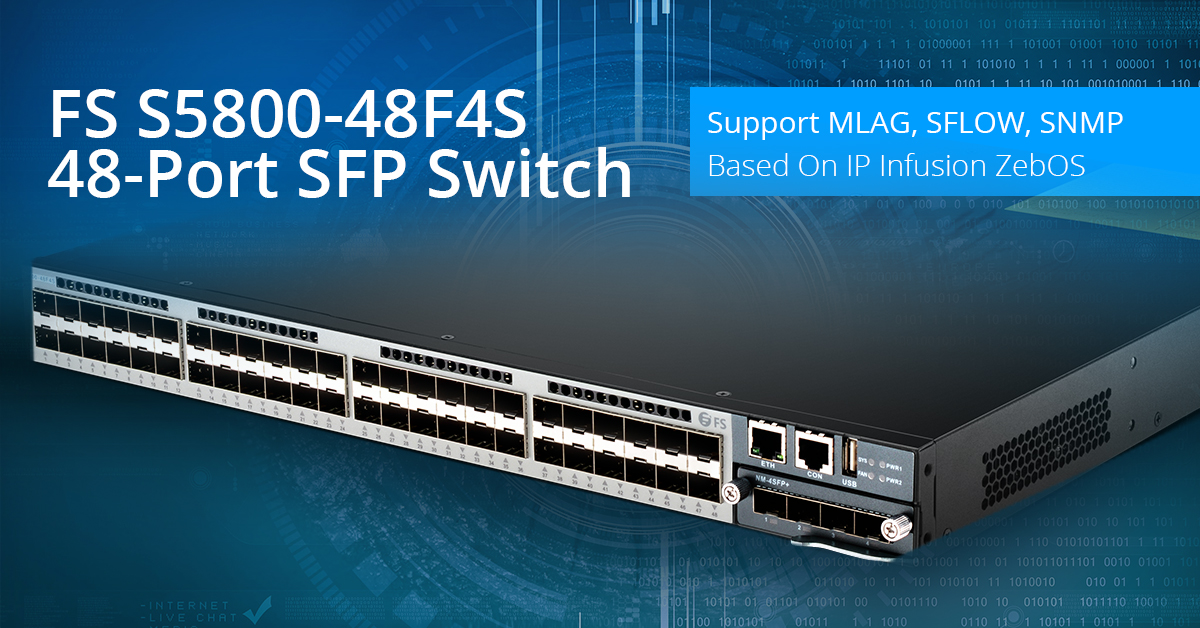 FS S5800-48F4S 10GB SFP Switch