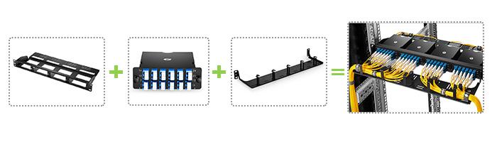 Blank Rack Mount Modular Panel + Fiber Optic Cassette