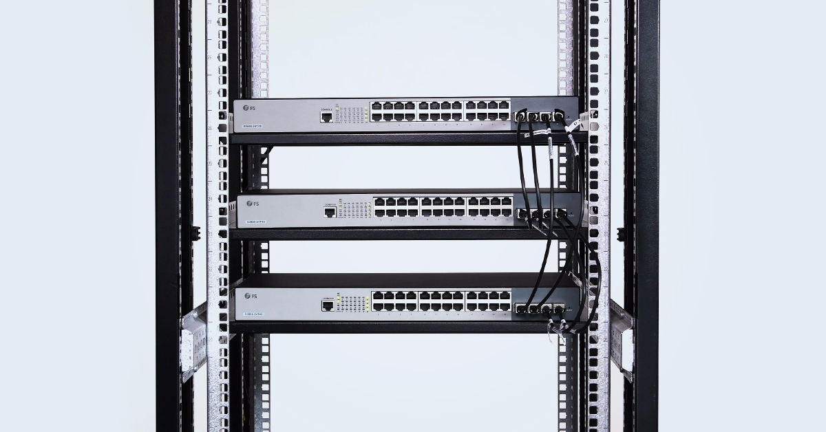Stacking Three S3800-24T4S 24-Port Switch