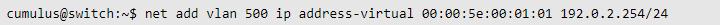 Cumulus Linux VRR config