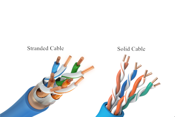 altStranded cable vs solid cable