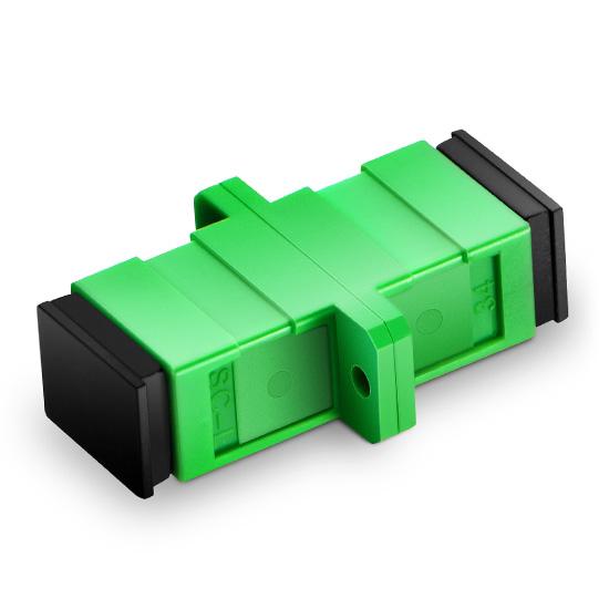 SC/APC to SC/APC Simplex Singlemode Fiber Optic Adapter without Metal Clips