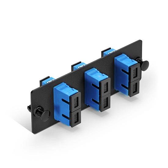 panneau d 39 adaptateur fibre optique 3 adaptateurs fs france. Black Bedroom Furniture Sets. Home Design Ideas