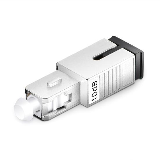 SC/UPC Singlemode Fixed Fiber Optic Attenuator, Male-Female, 10dB