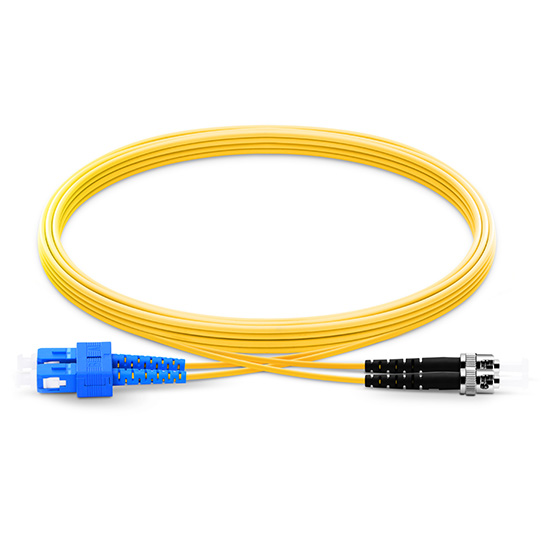 1m (3ft) SC UPC to ST UPC Duplex 2.0mm PVC(OFNR) 9/125 Single Mode Fiber Patch Cable