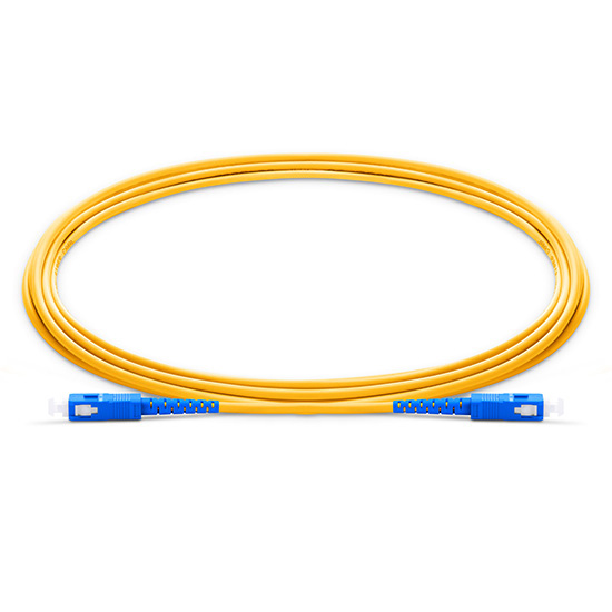 1m (3ft) SC UPC to SC UPC Simplex 2.0mm PVC(OFNR) OS2 Singlemode Bend Insensitive Fiber Patch Cable