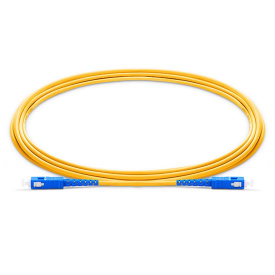 1m (3ft) SC UPC to SC UPC Simplex 2.0mm PVC(OFNR) OS2 Singlemode Bend Insensitive Fiber Patch Cable
