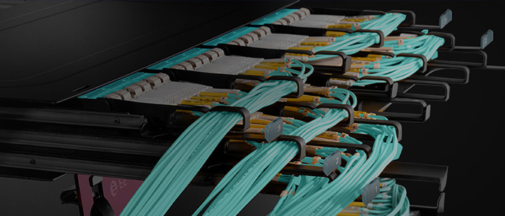 Large Capacity Data Centre Rack Cabling Solution