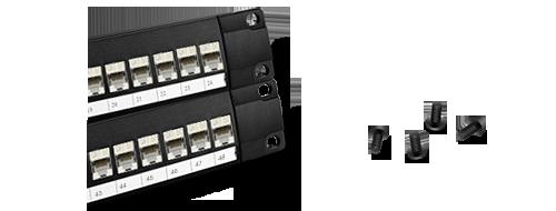 Cat6 Patch Panels  Screw-socket Design