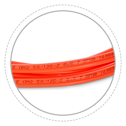 OM2 50/125 Multimode Printing helps clarify and recognize different cables