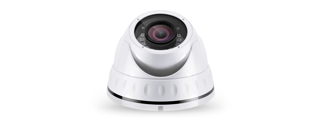 Surveillance  3MP Indoor/Outdoor Dome Camera  With Infrared