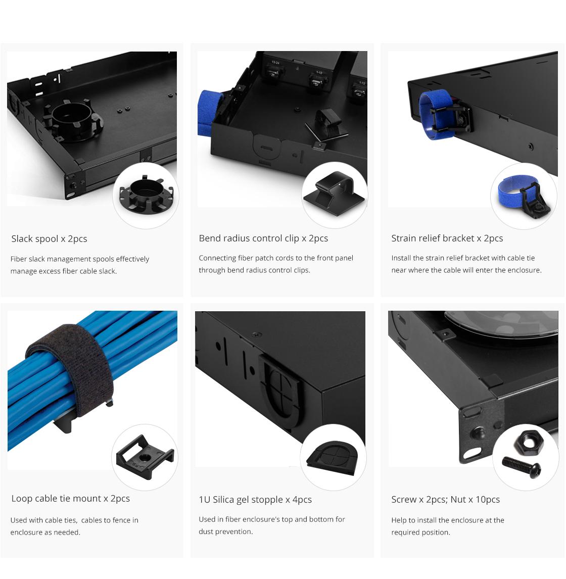 FHD Fiber Enclosures  Accessories Included in Fiber Enclosure