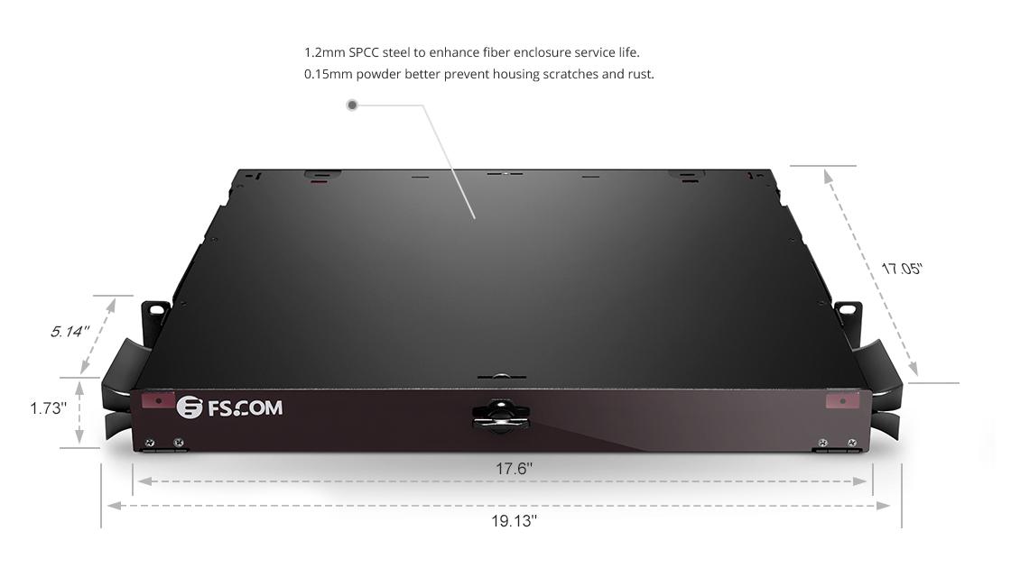 FHD Fiber Enclosures  Black Powder Coated SPCC Rugged Heavy-Duty Steel Housing