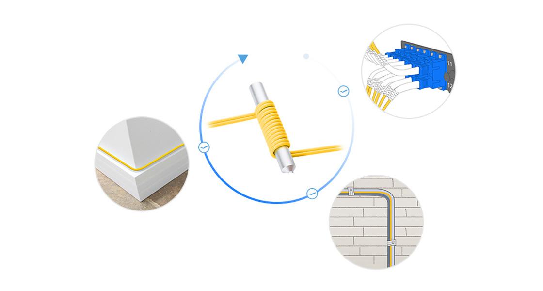 Bend Insensitive Fiber Patch Cables     Innovative Design for Smaller Denser Cabling