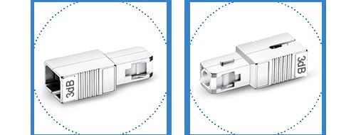 光アッテネータ(光減衰器)  2.恒久的な保護のための耐久性のある金属シェル