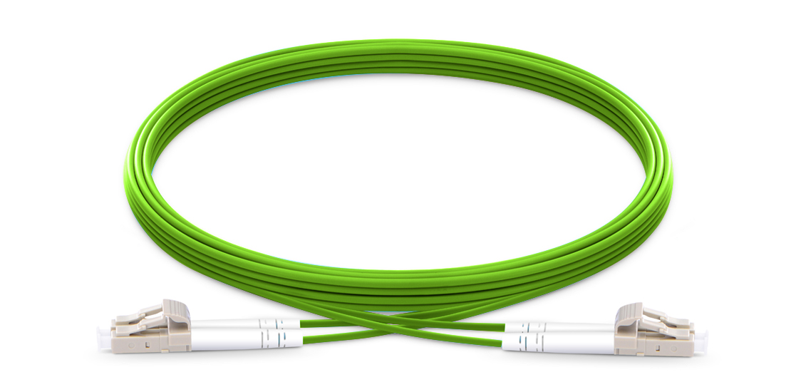 OM5 40G 100G 50/125 Multimode  Industry Standard Flammability Rating LSZH Jacket Fiber Optic Cable