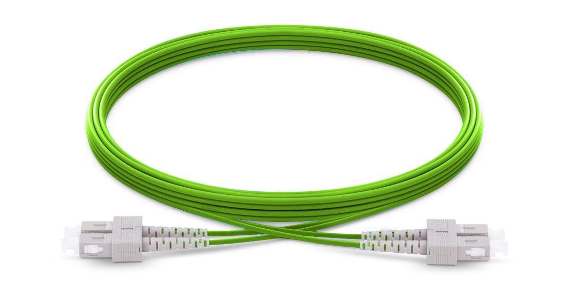 OM5 40G 100G 50/125 Multimode  Industry Standard Flammability Rating OFNR (Riser) Jacket Fiber Optic Cable