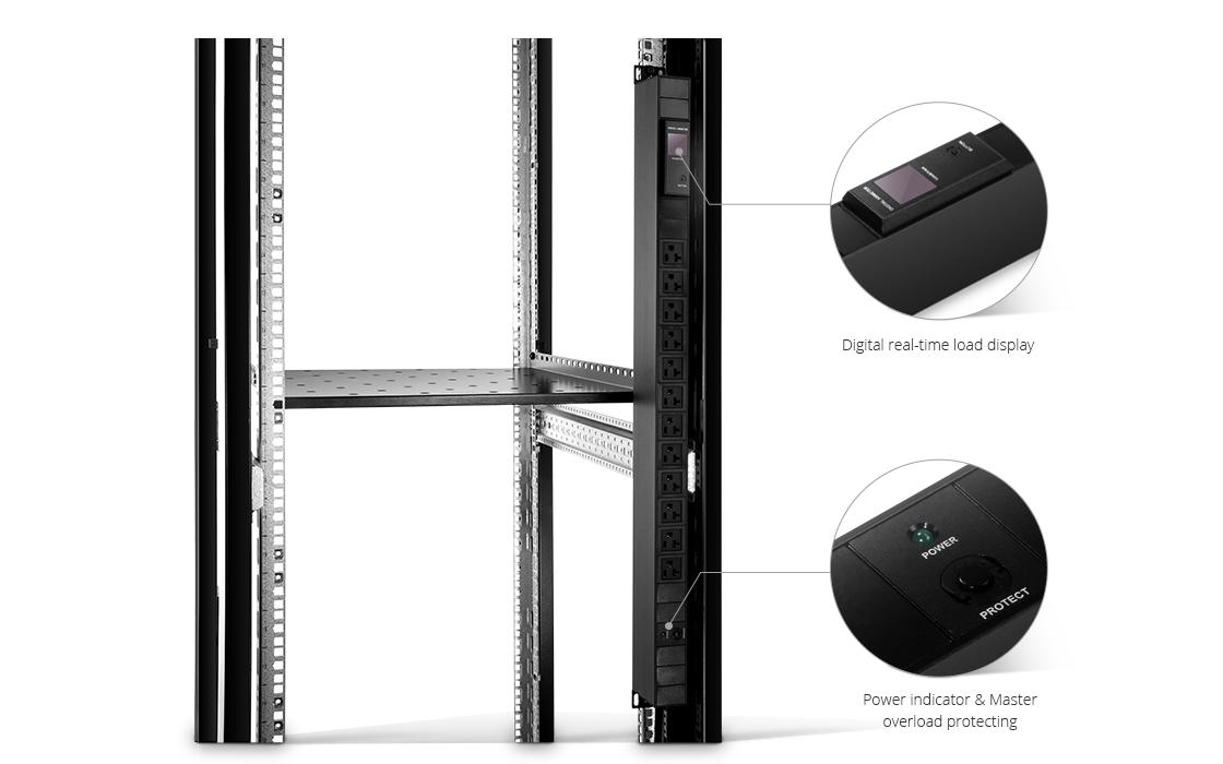 Rackmount PDU Power Strips  Rack-Mount Metered Power Distribution Unit