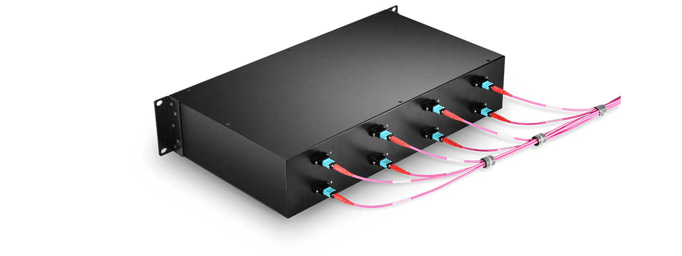 MTP/MPO-LC Patch Panels  Corresponding Silk-Labeled Design on Front & Rear
