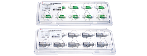 Optical Attenuators 3. Eaborately designed packing for no-damage delivery