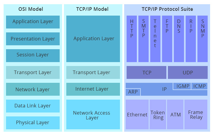 TCP/IP-Modell vs. OSI-Modell