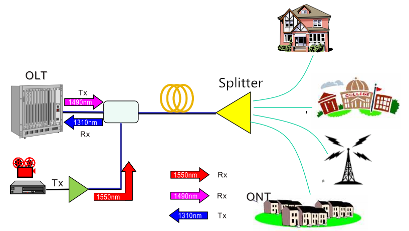 Components and Architecture of GPON FTTH Access Network | FS