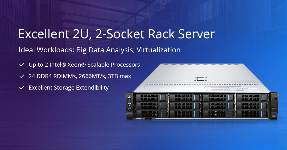 High performance rack server