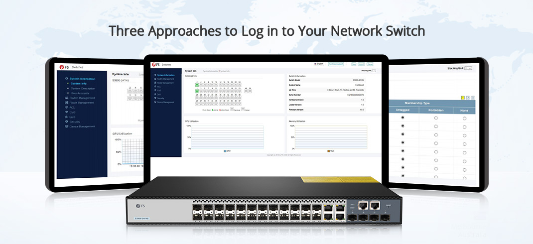 Log in to Your Network Switch