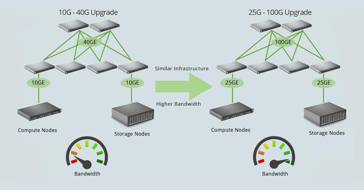 10G - 40G vs 25G - 100G