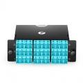 FHD 3x MTP®-12 Cassette, 36 Fibres OM4 Multimode,Type A, 3x 12F MTP® to 18x Shuttered LC Duplex (Aqua), 0.35dB max