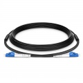30m (98ft) LC UPC to LC UPC Duplex OS2 Single Mode Industrial/Military-Grade Armoured Fibre Optic Patch Lead