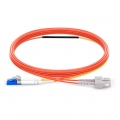 Customized OM1 Mode Conditioning PVC (OFNR) Fiber Optic Patch Cable