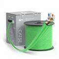 Bobina de cable de red Ethernet Cat5e, 1000ft (305m), certificado por UL, 24AWG, 350MHz, sin blindaje (UTP), PVC CM, verde