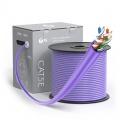 Bobina de cable de red Ethernet Cat5e, 1000ft (305m), certificado por UL, 24AWG, 350MHz, sin blindaje (UTP), PVC CM, violeta